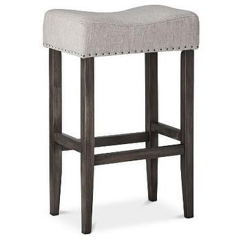 Renate Linen Bar Stools Set Of 2 Overstock Com