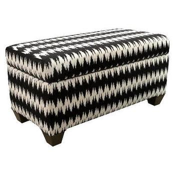 Storage Furniture - Skyline Furniture Gopala Storage Bench I Target - black and white storage bench, flame stitch storage bench, black flame stitch bench,