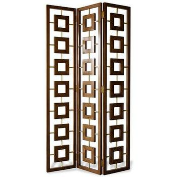 Decor/Accessories - Jonathan Adler Desmond Room Divider I AllModern - geometric room divider, geometric floor screen, walnut room divider, modern room divider, modern floor screen,
