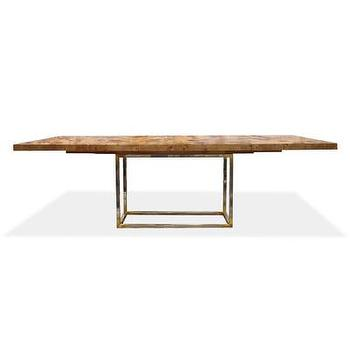 Tables - Jonathan Adler Bond Dining Table | AllModern - modern burled wood dining table, burled wood dining table, burled wood and lucite dining table,