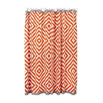 Bath - Jonathan Adler Arcade Shower Curtain | AllModern - modern orange shower curtain, orange geometric shower curtain, jonathan adler shower curtain, orange diamond print shower curtain,