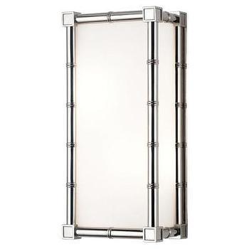 Lighting - Jonathan Adler Meurice 2 Light Wall Sconce | AllModern - modern nickel wall sconce, rectangular nickel wall sconce, nickel and frosted glass wall sconce,