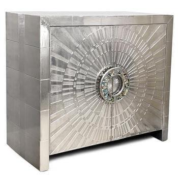 Storage Furniture - Jonathan Adler Talitha Cabinet | AllModern - silver starburst cabinet, silver starburst buffet, modern silver buffet, metallic silver buffet cabinet,