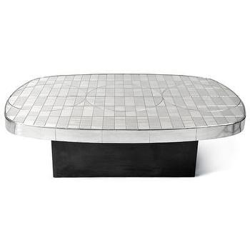 Tables - Jonathan Adler Talitha Cocktail Table | AllModern - silver and black cocktail table, silver cocktail table, modern silver cocktail table, jonathan adler cocktail table,