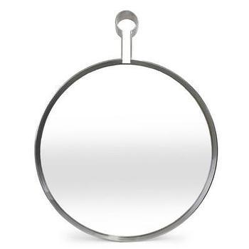 Mirrors - Jonathan Adler Pierre Mirror | AllModern - modern round mirror, stainless steel mirror, stainless steel captains mirror, jonathan adler mirror,