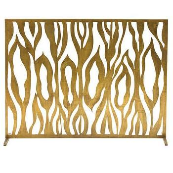 Decor/Accessories - ARTERIORS Home Gina Iron Fireplace Screen | AllModern - modern brass fireplace screen, antique brass fireplace screen, contemporary brass fireplace screen,