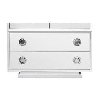 Storage Furniture - Jonathan Adler Claude Modular System- 2 Drawer Unit | AllModern - modern white modular drawers, modular white drawers, white chest of drawers, modern modular furniture,