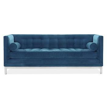Seating - Jonathan Adler Lampert Sofa | AllModern - teal blue sofa, modern teal sofa, blue tufted back sofa, modern blue sofa,