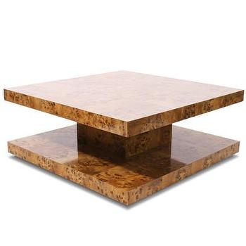 Tables - Jonathan Adler Bond Coffee Table | AllModern - burled wood coffee table, modern burled wood coffee table, square burled wood coffee table,