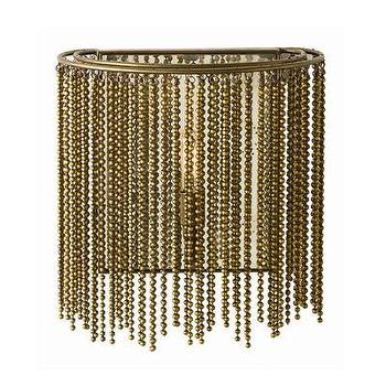 Lighting - ARTERIORS Home Maxim 1 Light Wall Sconce | AllModern - beaded gold sconce, gold chain sconce, beaded chain sconce,