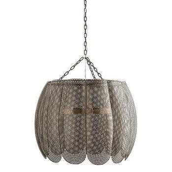 Lighting - ARTERIORS Home Liberty 3 Light Bowl Pendant | AllModern - scalloped iron pendant, industrial iron pendant, iron mesh pendant, perforated iron pendant,