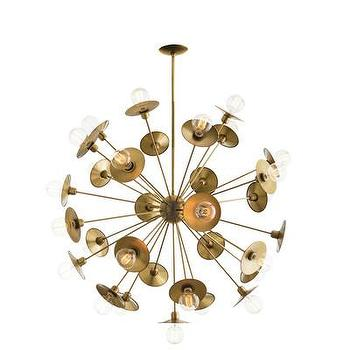 Lighting - ARTERIORS Home Keegan 30 Light Chandelier | AllModern - brass starburst chandelier, modern starburst chandelier, modern brass chandelier,