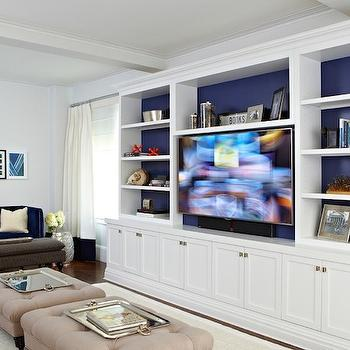 Built In Media Center, Transitional, living room, Chango & Co.