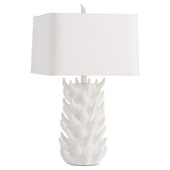 Lighting - ARTERIORS Home Gomer Table Lamp I AllModern - modern white table lamp, white resin table lamp, spiky white table lamp,