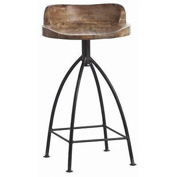 Seating - ARTERIORS Home Henson Swivel Bar Stool | AllModern - mango wood bar stool, wood and iron barstool, iron swivel barstool,