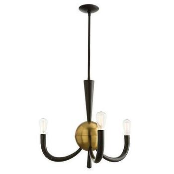 Lighting - ARTERIORS Home Juno Minn 3 Light Chandelier | AllModern - brass and bronze chandelier, modern bronze chandelier, three arm bronze chandelier,