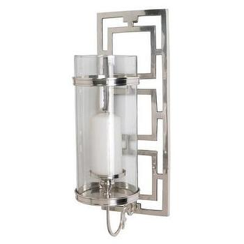 Art/Wall Decor - ARTERIORS Home Wilson Polished Nickel / Glass Hurricane Sconce | AllModern - nickel and glass candle sconce, modern candle wall sconce, polished nickel candle sconce,