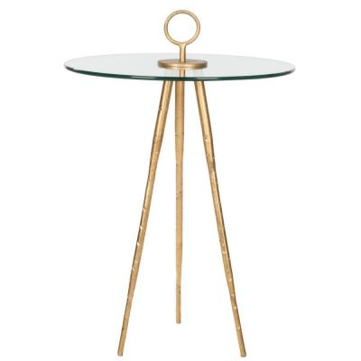 Safavieh Delma Accent Table with Clear Glass Look for Less