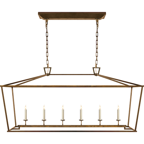 Visual Comfort Darlana 6 Light Linear Pendant Look for Less