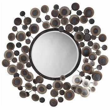Mirrors - ARTERIORS Home Kensey Abstract Wall Mirror I AllModern - modern iron mirror, iron dot wall mirror, abstract iron wall mirror,