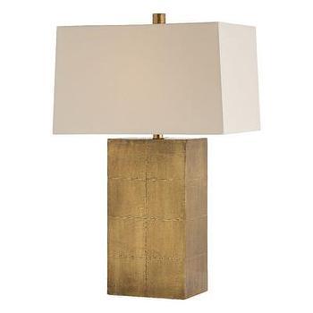 Lighting - ARTERIORS Home Kimi Table Lamp I AllModern - antique brass table lamp, brass nailhead table lamp, brass foil table lamp,