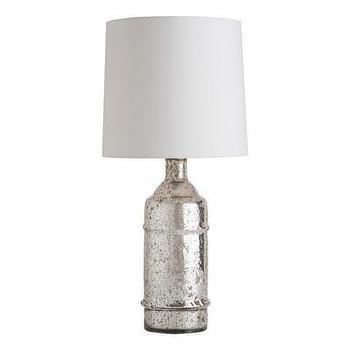 Lighting - ARTERIORS Home Jade Table Lamp I AllModern - silver bottle table lamp, mercury glass bottle lamp, silver bottle shaped lamp,