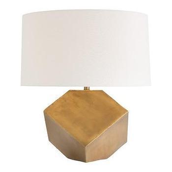 Lighting - ARTERIORS Home Jordan Table Lamp I AllModern - geometric brass lamp, modern brass lamp, hexagonal brass lamp,