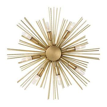 Lighting - ARTERIORS Home Jiten 8 Light Wall Sconce | AllModern - brass starburst wall sconce, modern starburst wall sconce, starburst wall sconce,