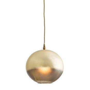 Lighting - ARTERIORS Home Lily 1 Light Globe Pendant | AllModern - gold globe pendant, gold ombre pendant, metallic gold pendant,
