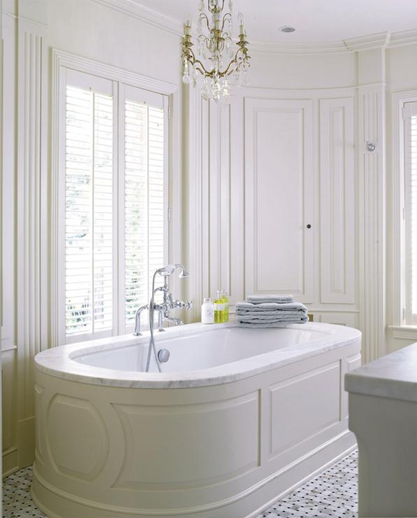 Bathroom Wainscoting, Full Wall Wainscoting, Ivory Wainscoting