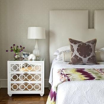 Bear Hill Interiors - bedrooms - Modern bedroom, Grey, Upholstered Headboards, Designers Guild, Worlds-Away, Shine,  Modern Master bedroom by