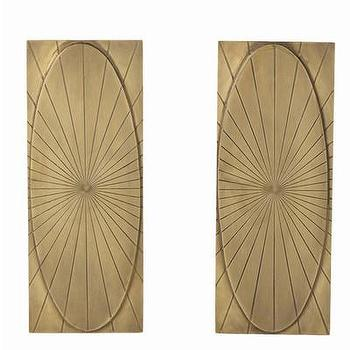 Art/Wall Decor - ARTERIORS Home Holbrook Andirons | AllModern - brass andirons, geometric brass andirons, antique brass andirons,