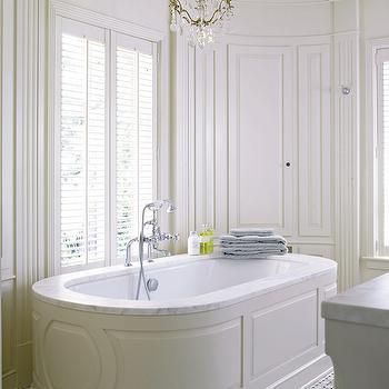 Oval Paneled Bathtub, Transitional, bathroom, Hyde Evans Design