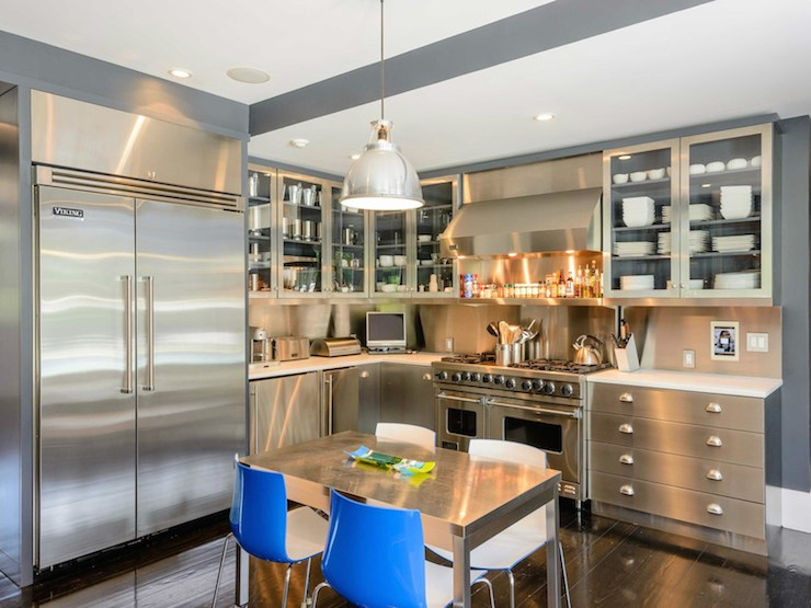 Stainless Steel Castor Kitchen Chairs
