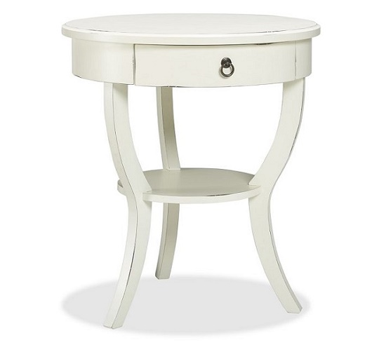 Pottery Barn Carrie Pedestal Bedside Table Look for Less