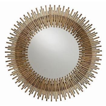 Mirrors - ARTERIORS Home Prescott Mirror | AllModern - iron sunburst mirror, modern sunburst mirror, modern gold sunburst mirror,