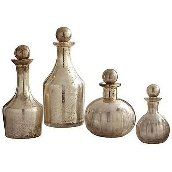 Decor/Accessories - ARTERIORS Home Blythe Glass Decanters | AllModern - antique silver glass decanters, vintage silver glass decanters, antiqued silver decanters,