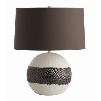 Lighting - ARTERIORS Home Dagan Table Lamp I AllModern - bronze and white table lamp, modern bronze table lamp, bronze glazed table lamp,