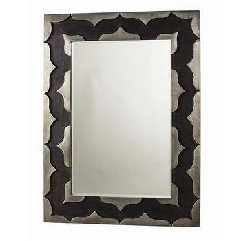 Mirrors - ARTERIORS Home Halden Mirror | AllModern - black and silver wall mirror, modern black and silver mirror, silver metal wall mirror,