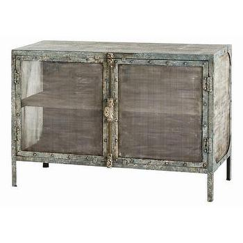 Storage Furniture - ARTERIORS Home Finn Cabinet | AllModern - distressed iron cabinet, iron cabinet with mesh doors, weathered iron cabinet, industrial metal cabinet,