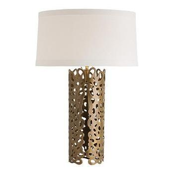 Lighting - ARTERIORS Home Hedda Table Lamp I AllModern - laser cut brass table lamp, laser cut table lamp, modern brass table lamp,
