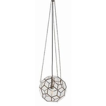 ARTERIORS Home Beck Faceted 1 Light Globe Pendant, AllModern