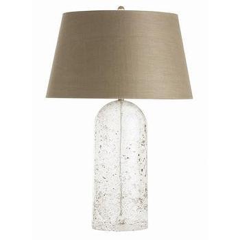 Lighting - ARTERIORS Home Fresno Table Lamp I AllModern - speckled glass table lamp, bullet shaped glass lamp, taupe glass lamp,