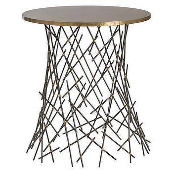 Tables - ARTERIORS Home Grazia End Table | AllModern - antique brass end table, modern brass end table, iron and brass end table, matchstick end table,