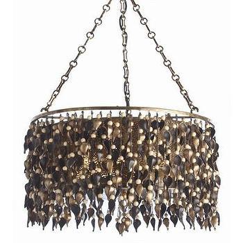 Lighting - ARTERIORS Home 6 Light Drum Pendant | AllModern - beaded brass pendant, beaded brass drum pendant, modern brass pendant light,