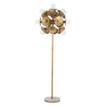 Lighting - ARTERIORS Home Keegan Floor Lamp   AllModern - sculptural brass floor lamp, modern brass floor lamp, brass and marble floor lamp, retro brass floor lamp,
