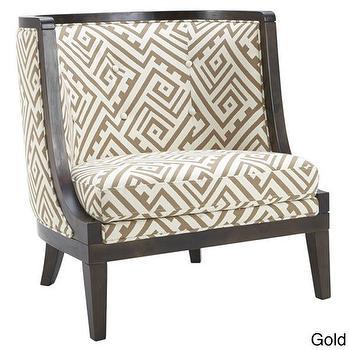 Sunpan Walters Geometric Fabric Upholstered Armchair, Overstock