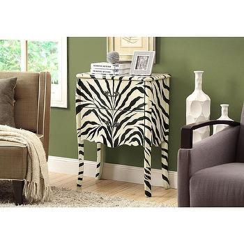 Storage Furniture - Contemporary Bombay 2-drawer Chest | Overstock - zebra print chest, zebra print nightstand, zebra print bedside table,