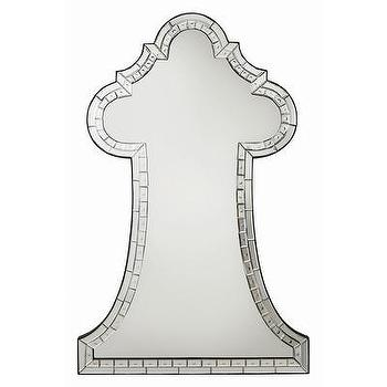 Mirrors - ARTERIORS Home Ivette Mirror | AllModern - etched tiled mirror, arched etched mirror, etched mosaic mirror,
