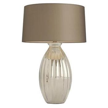Lighting - ARTERIORS Home Ellen Table Lamp I AllModern - ridged silver table lamp, modern silver table lamp, silver lamp with taupe shade,